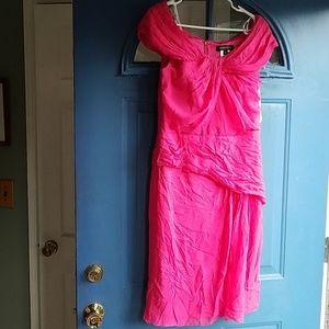 NWOT Tadashi Shoji sz 10 Pink Silk Cocktail Dress